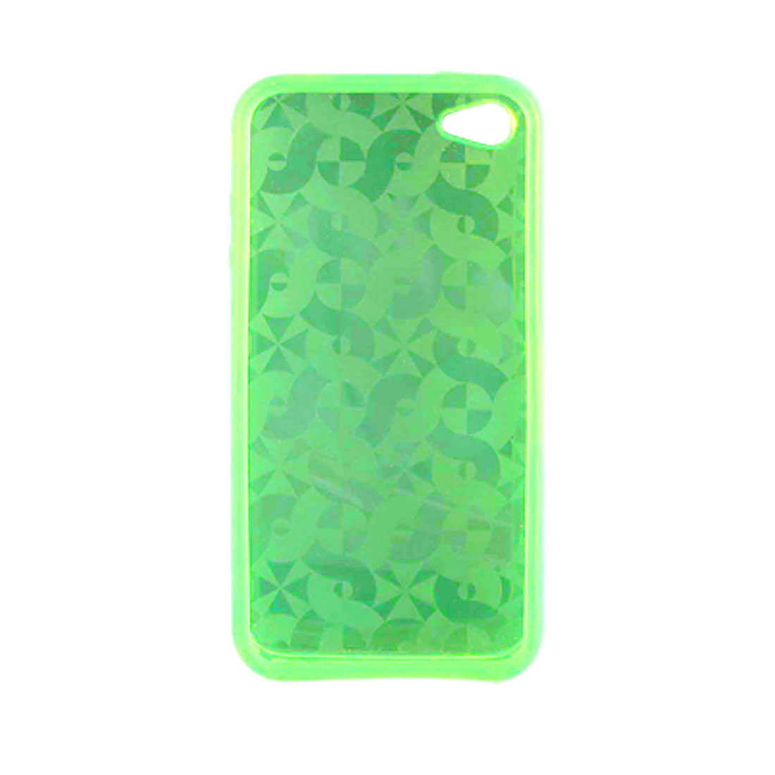Windmill Print Clear Green Soft Plastic Shell Case for Apple iPhone 4 4G