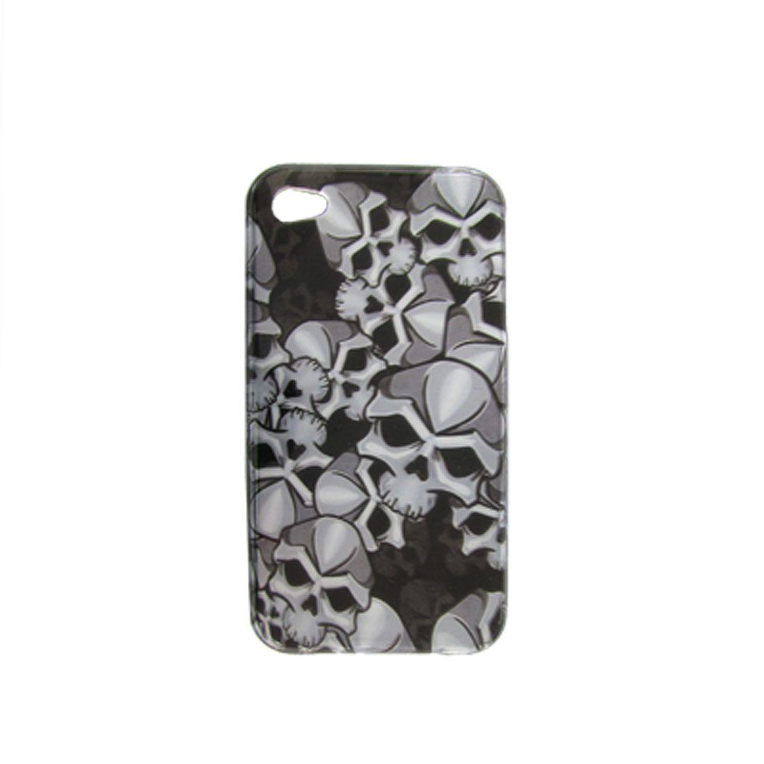 Skull Pattern Hard Plastic Protective Case Shell Cover for iPhone 4G 4