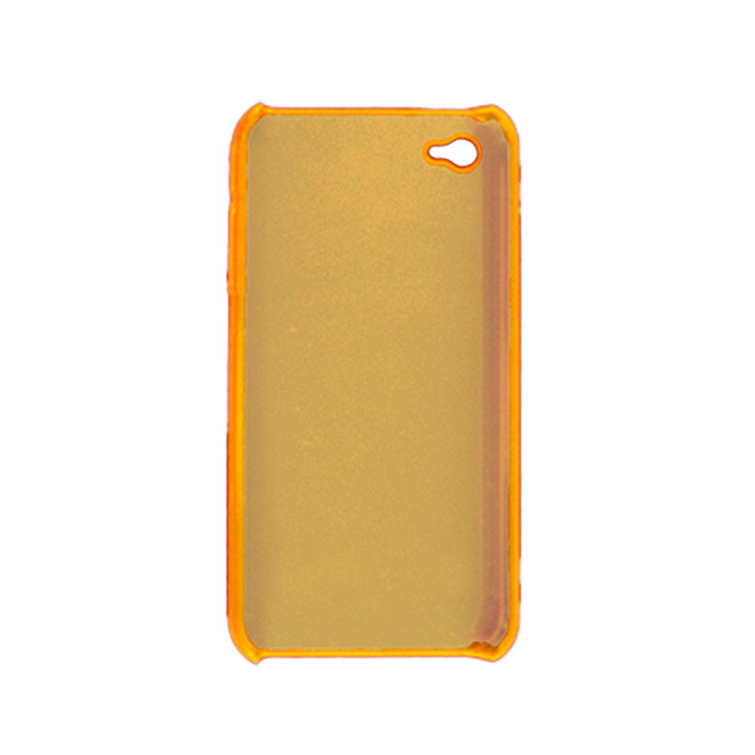 Clear Orange Hard Plastic Case w Stylus Pen for iPhone 4G 4