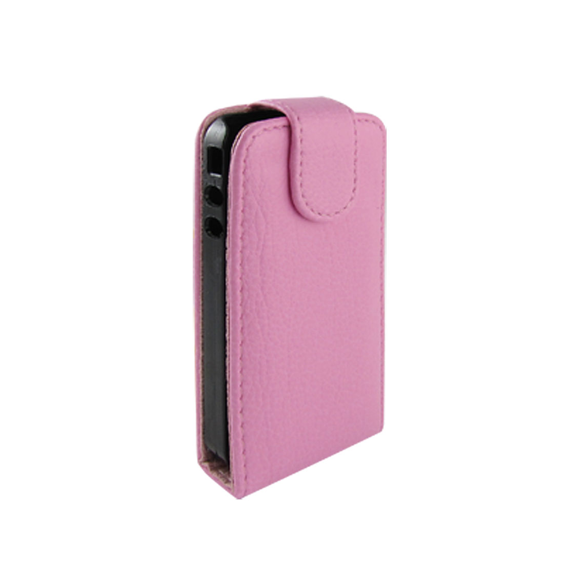 Ultra Pink Faux Leather Magnetic Flip Case for iPhone 4G 4