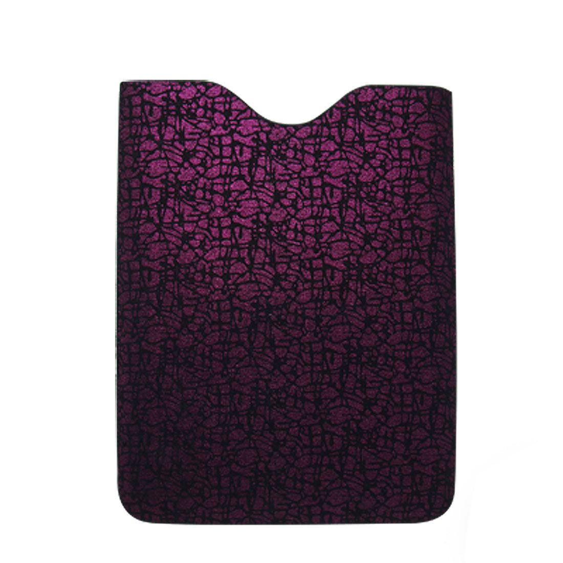 Fuchsia Irregular Pattern Pull Tab Faux Leather Lined Case Sleeve for iPad 1