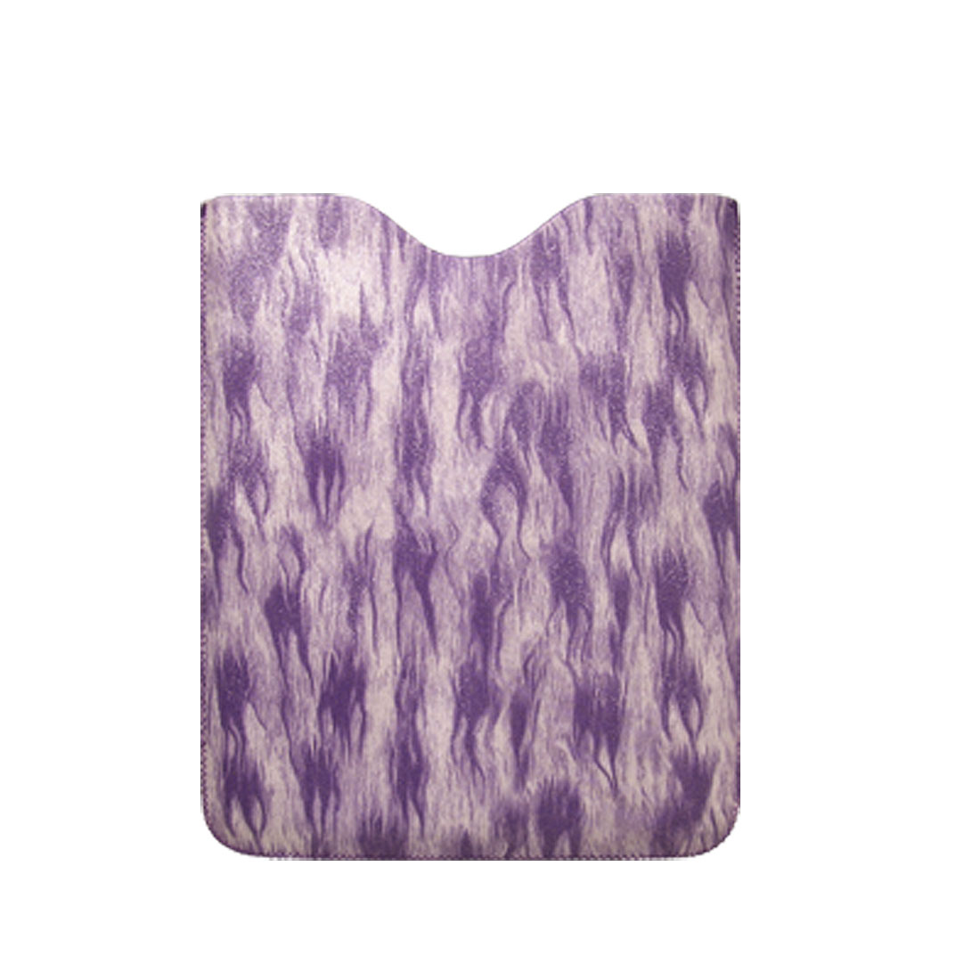 Purple Fire Pattern Pull Tab Faux Leather Case Sleeve for iPad 1