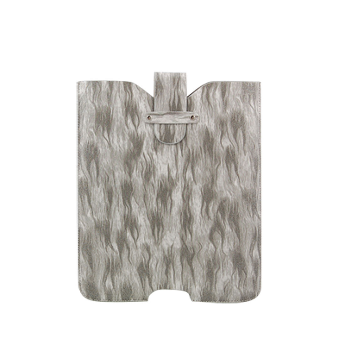 Grey Fire Pattern Flap Faux Leather Case Sleeve for iPad 1