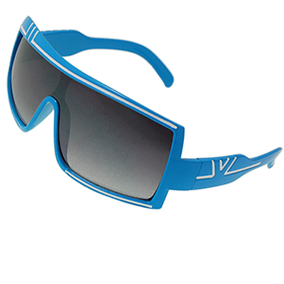 Wide Lens Plastic Blue Full Frame Eyewear Sunglasses for Children