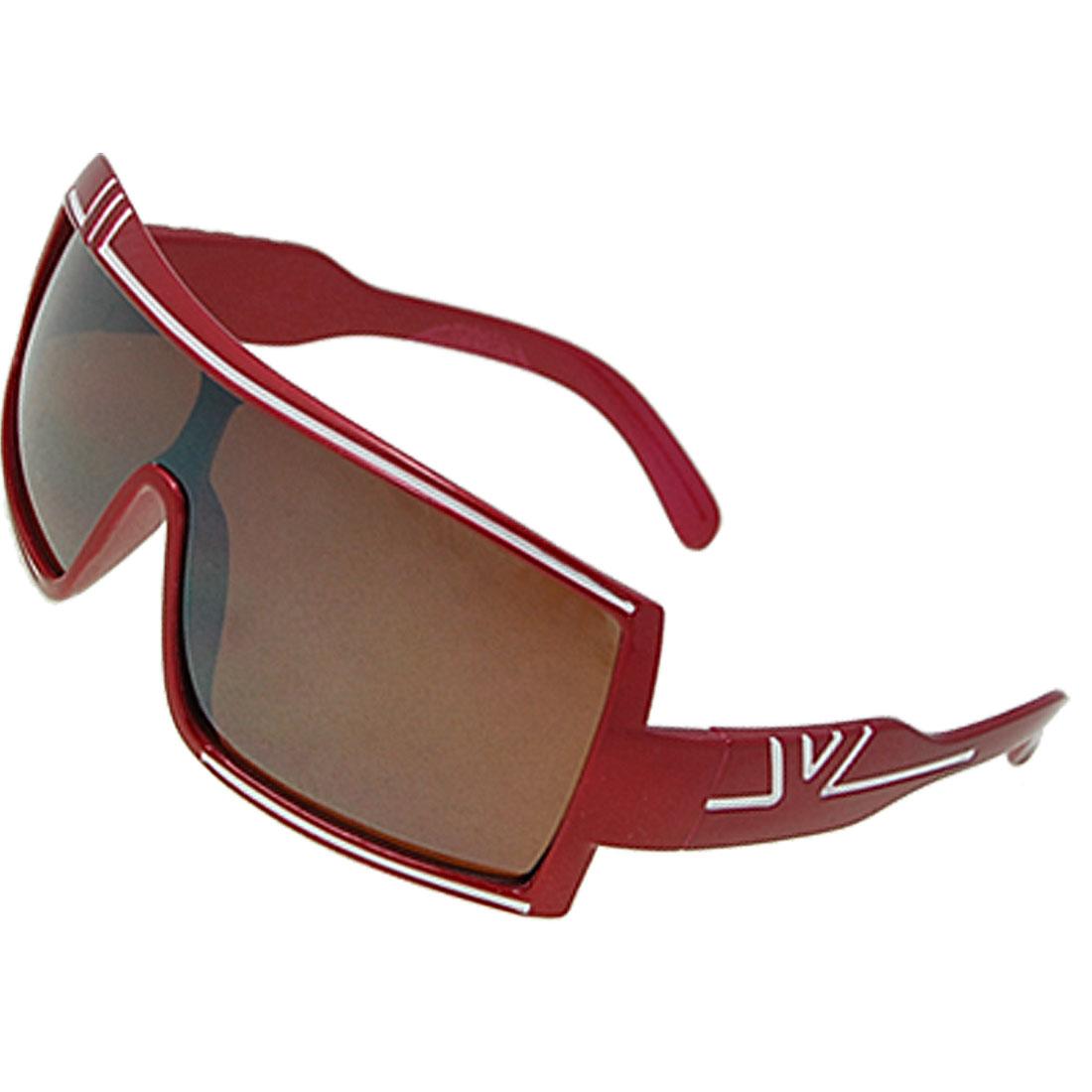 Plastic Red Full Frame Wide Lens Eyewear Sunglasses for Children