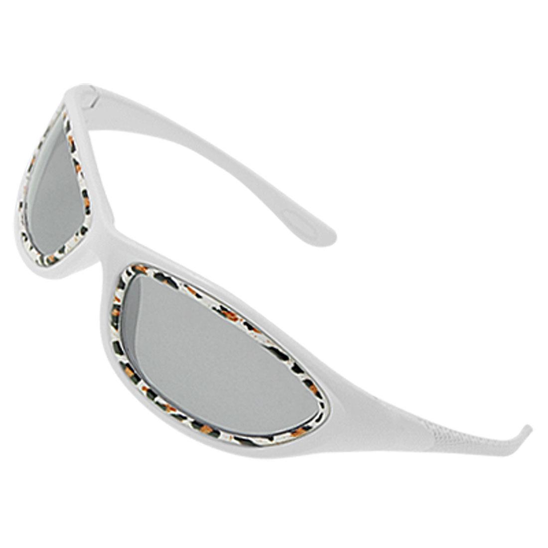 Plastic Frame White Full Rim Fashion Sunglasses Eyeglass for Children