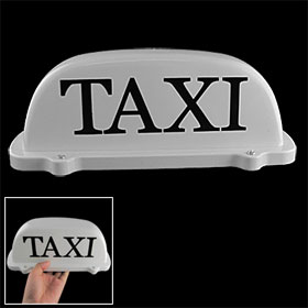 Taxi Cab Roof Light w Magnetic Base Sign DC 12V Yellow Light