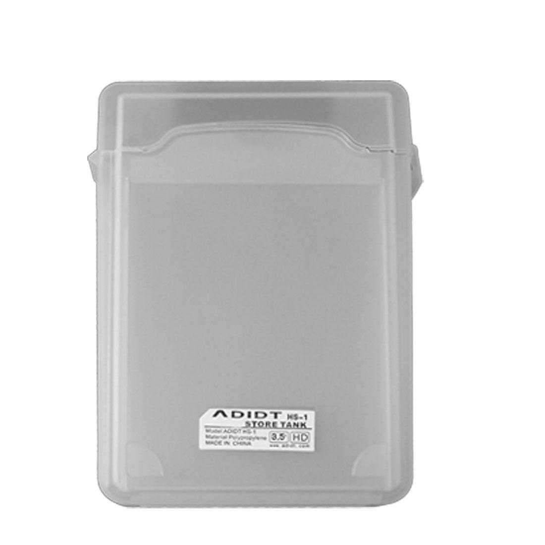 White Plastic 3.5 Inch SATA IDE Hard Disk Drive Case HDD Store Tank Box