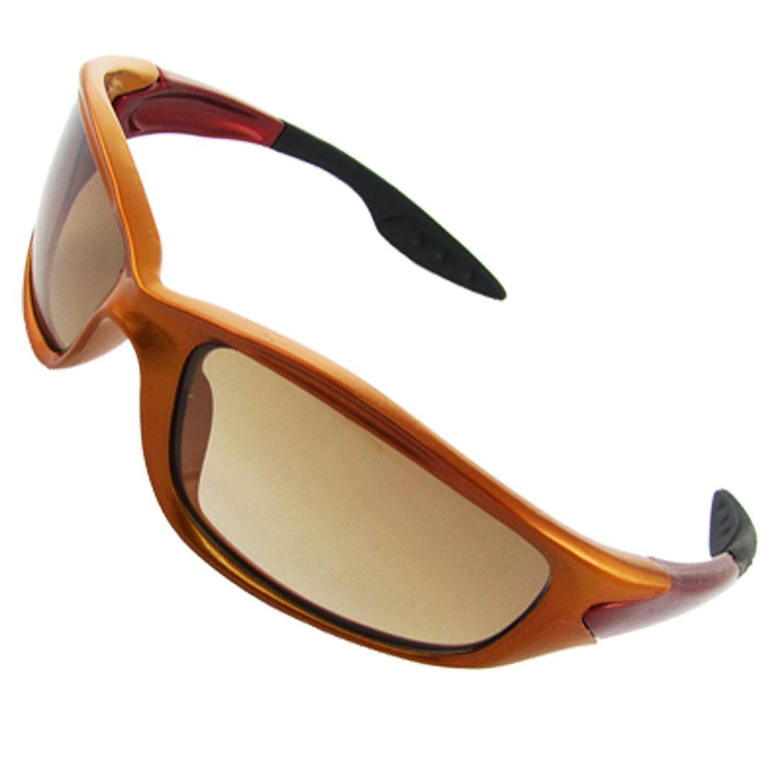 Orange Plastic Frame Full Rim Fashion Sunglasses Eyewear for Children