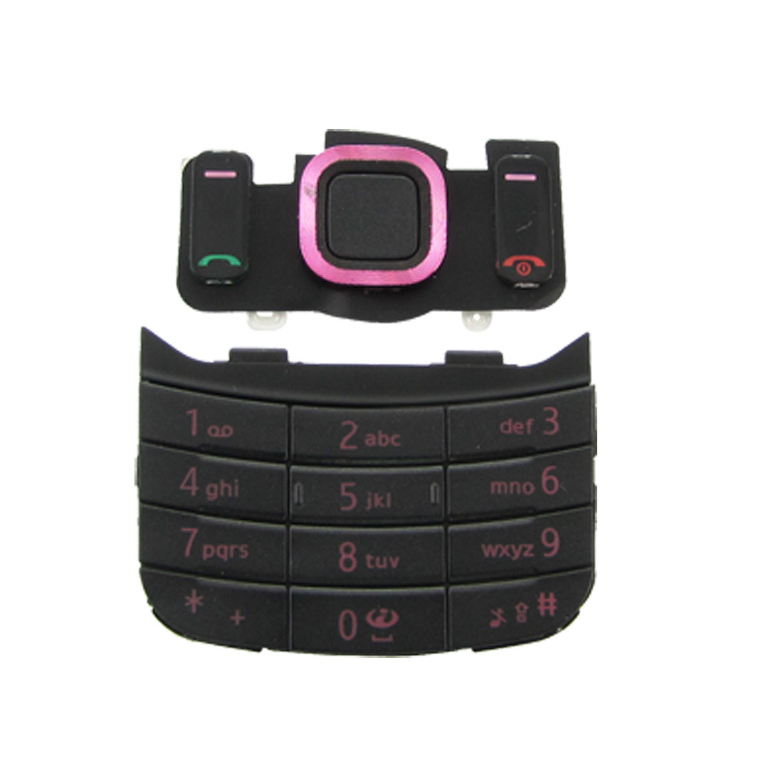 Black Purple Plastic Keyboard Button for Nokia 6600