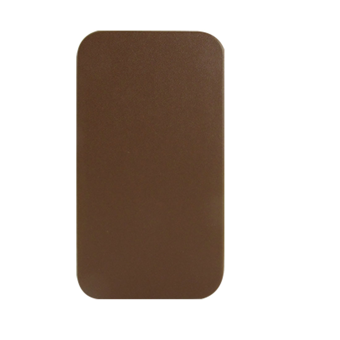 Brown Faux Leather Case Flap Vertical Pouch for iPhone 4 4G
