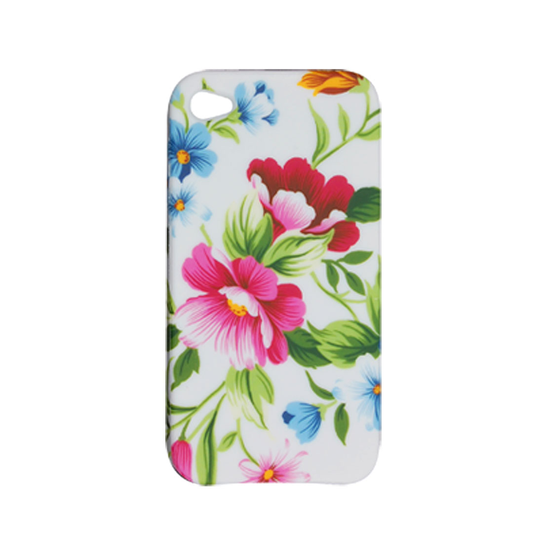 Pink Peach Blossom Print Soft Plastic Shield Case for Apple iPhone 4 4G