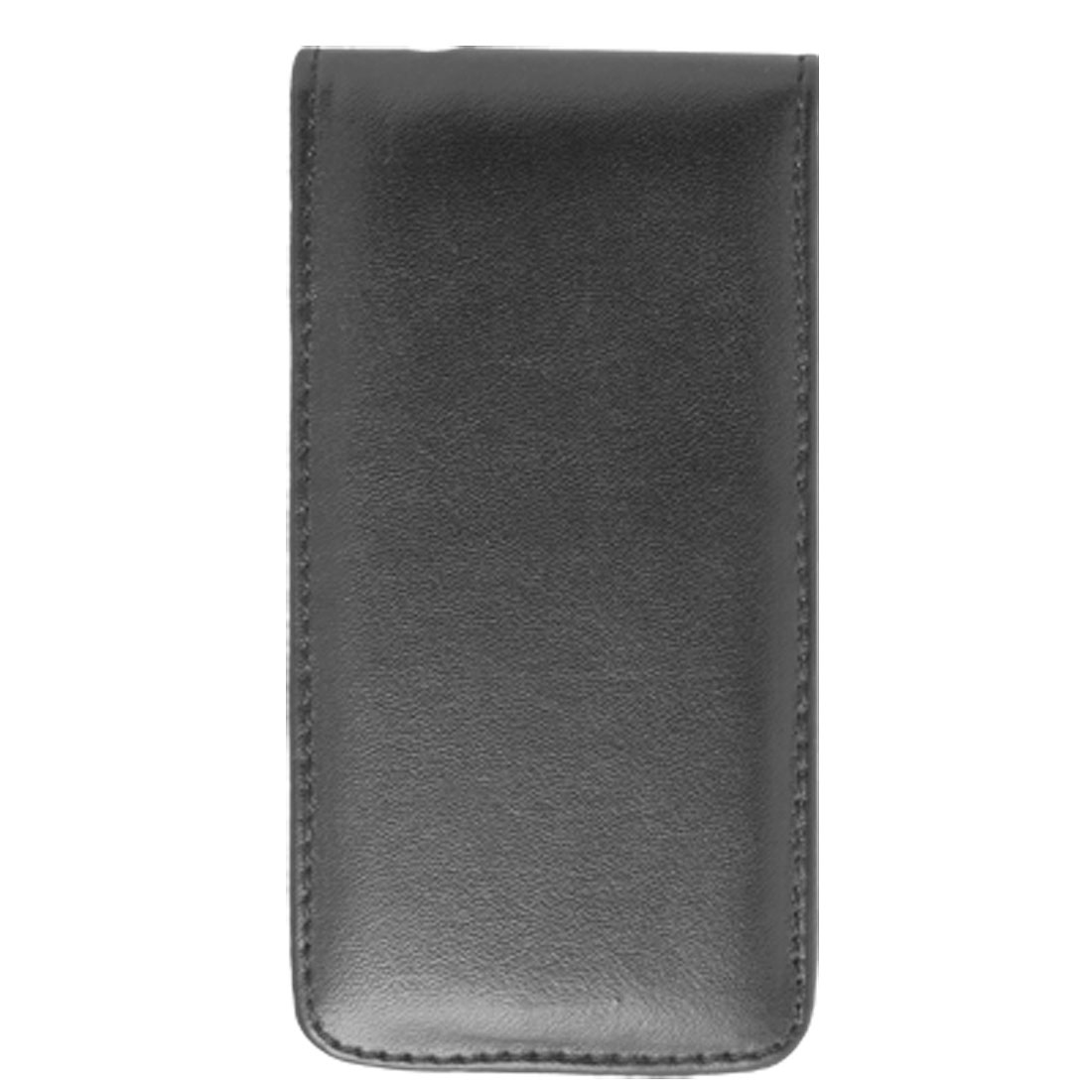 Black Faux Leather Magnetic Flap Holder Case for Apple iPhone 4 4G