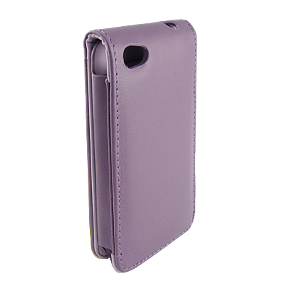 Lavender Faux Leather Magnetic Vertical Pouch for iPhone 4
