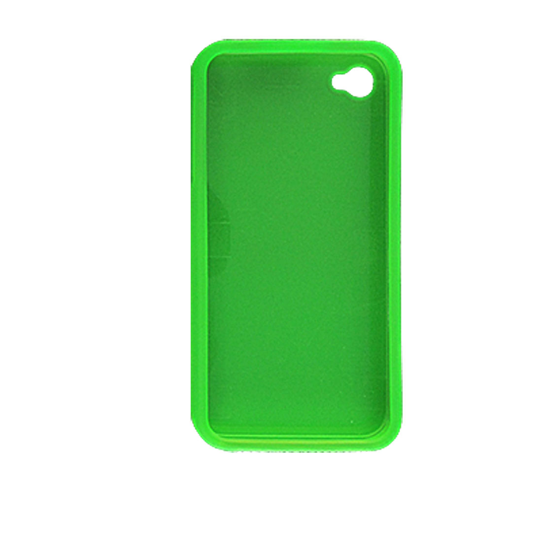 Green Rubberized Plastic Case Shield for Apple iPhone 4 4G