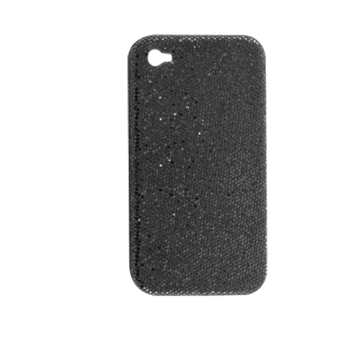 Hard Plastic Black Glittery Protective Cover for iPhone 4