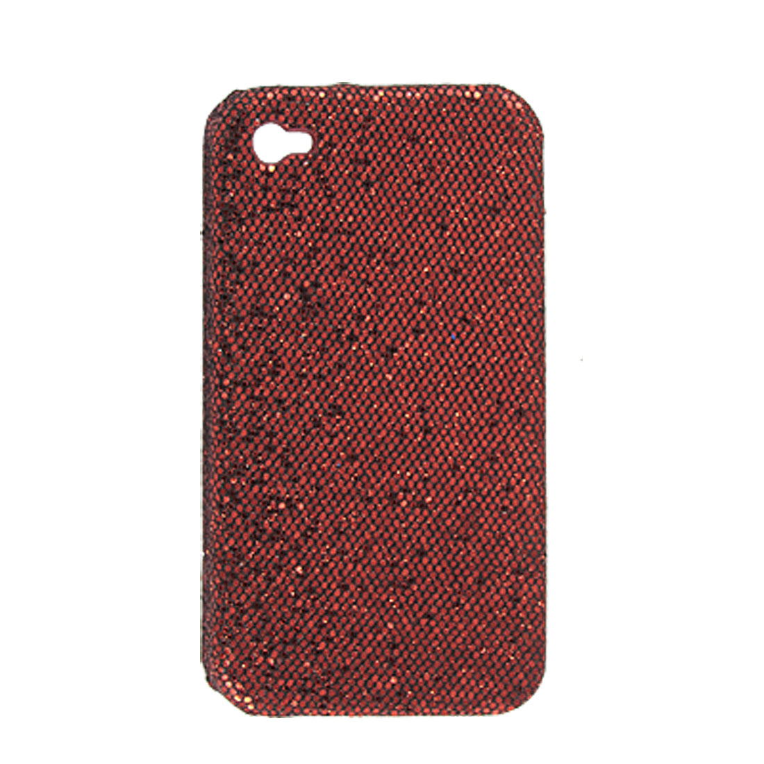 Glittery Antislip Red Hard Plastic Cover Guard for iPhone 4