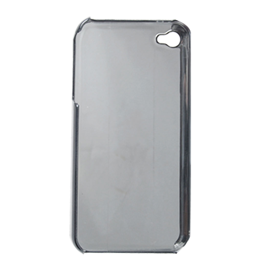 Black Hard Plastic Chrome Plated Back Case Cover for iPhone 4G 4