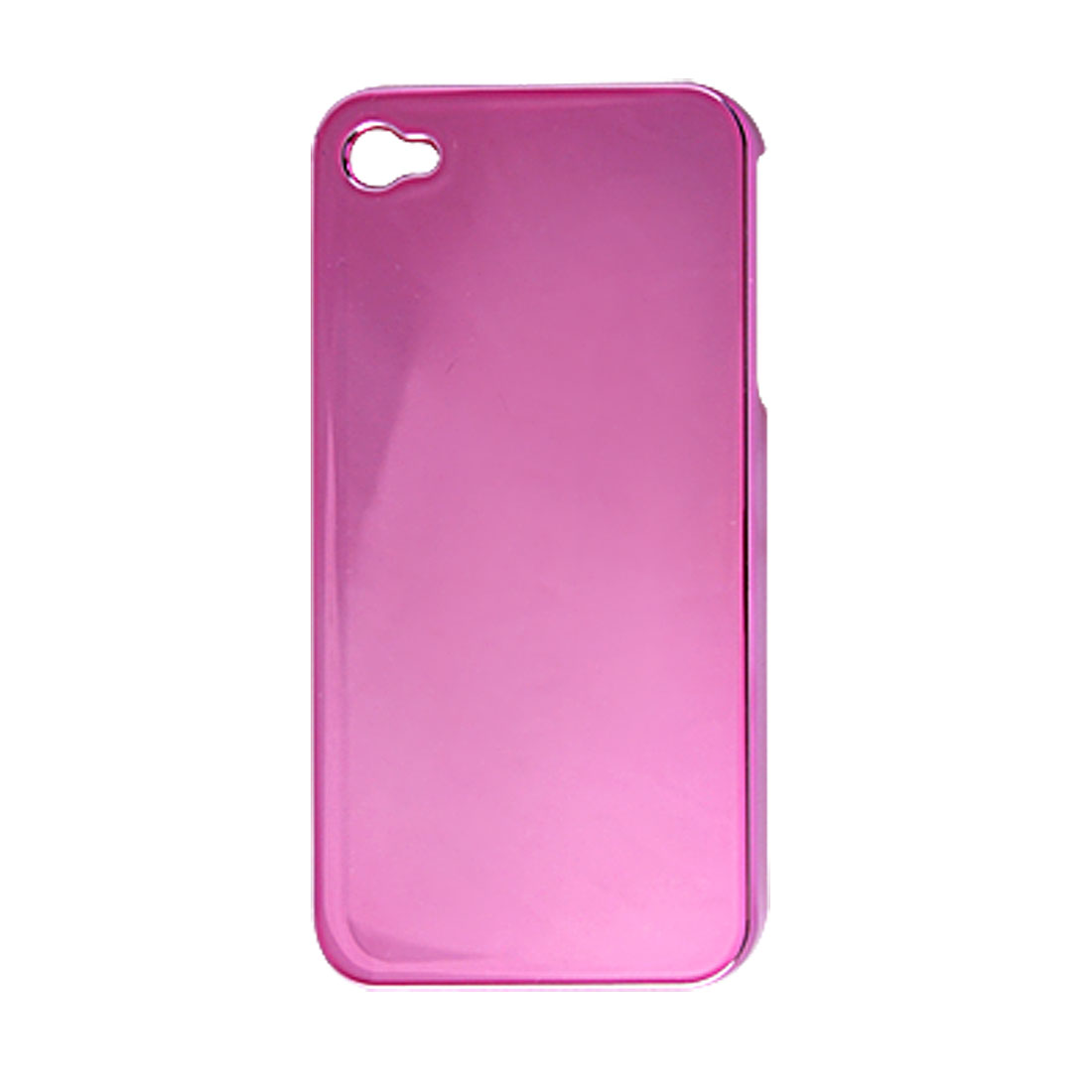 Fuchsia Specular Electroplated Hard Plastic Case for iPhone 4 4G