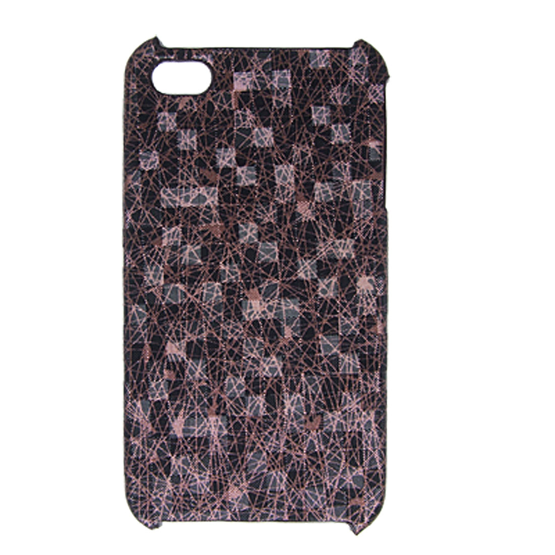 Hard Faux Leather Coated Case Glitter Cover for iPhone 4 4G