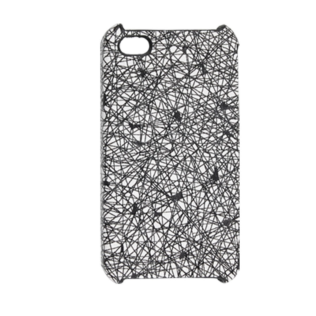 White Black Hard Nonslip Case Plastic Cover for iPhone 4 4G