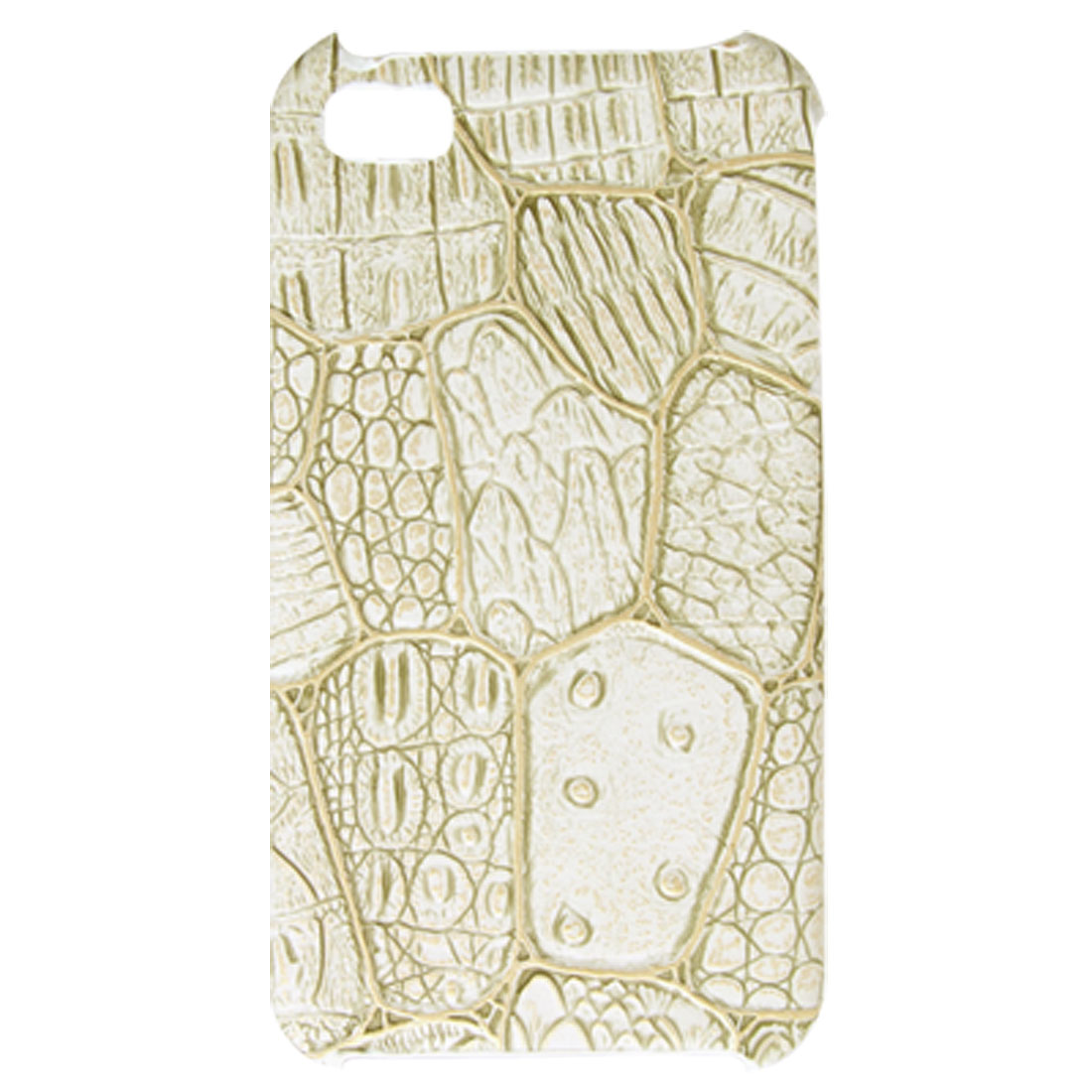 White Nonslip Hard Case Plastic Back Cover for iPhone 4 4G