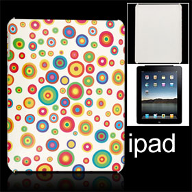 White Hard Back Case Retro Circle Cover for Apple iPad 1