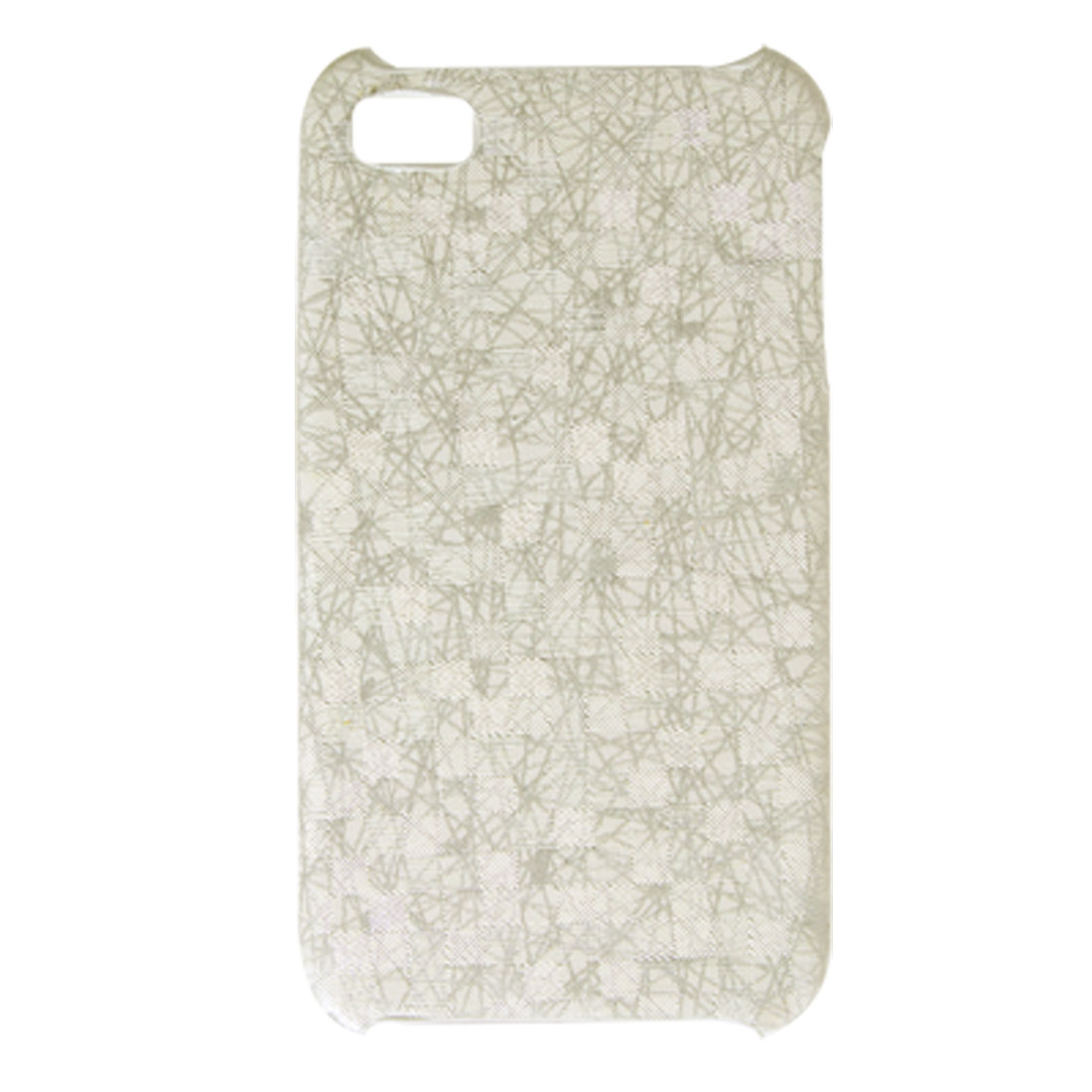 White Gray Hard Plastic Cover Nonslip Case for iPhone 4 4G