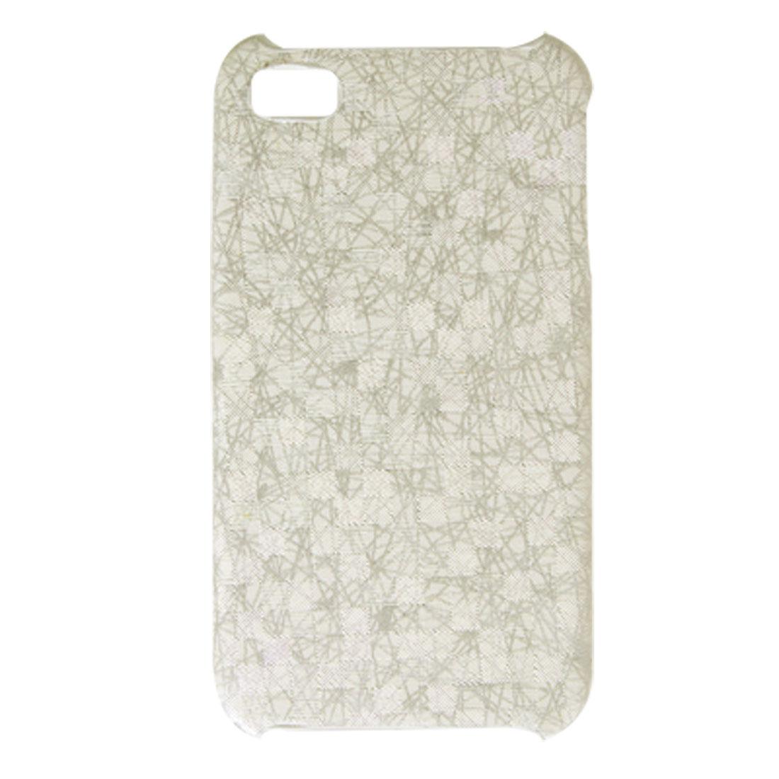 White Gray Hard Plastic Cover Nonslip Case for iPhone 4 4G
