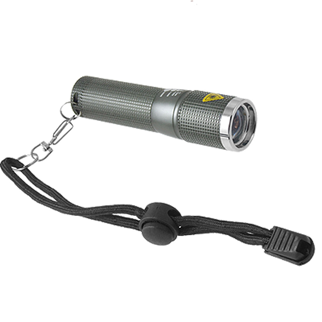 Adjustable Zoom Focus Portable LED Flashlight Aluminium Torch Gray