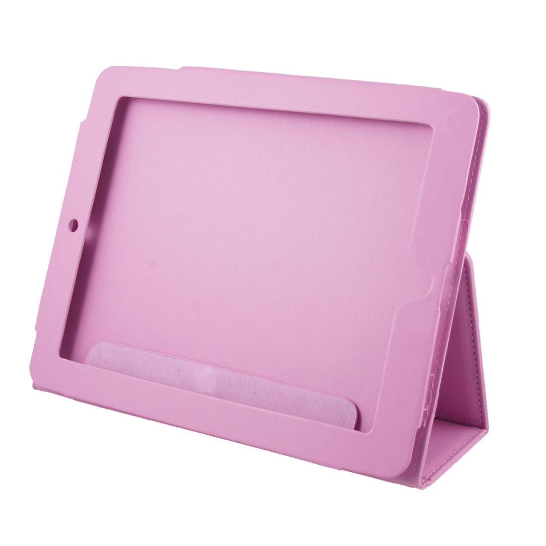 Faux Leather Ultra Pink Magnetic Closure Cover Case for iPad 1