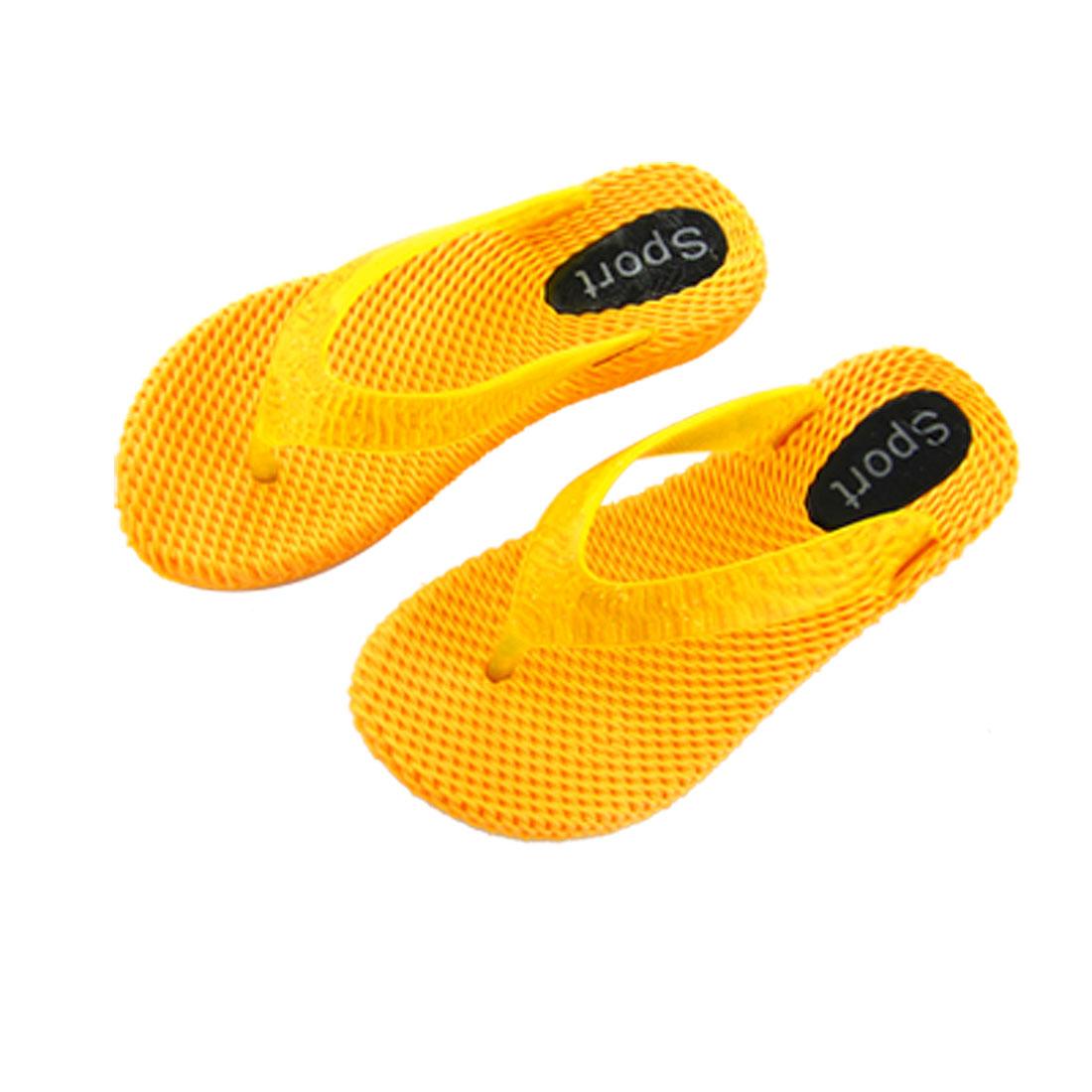 Yellow Summer Beach Slippers Pool Thongs Flip Flops for Girls