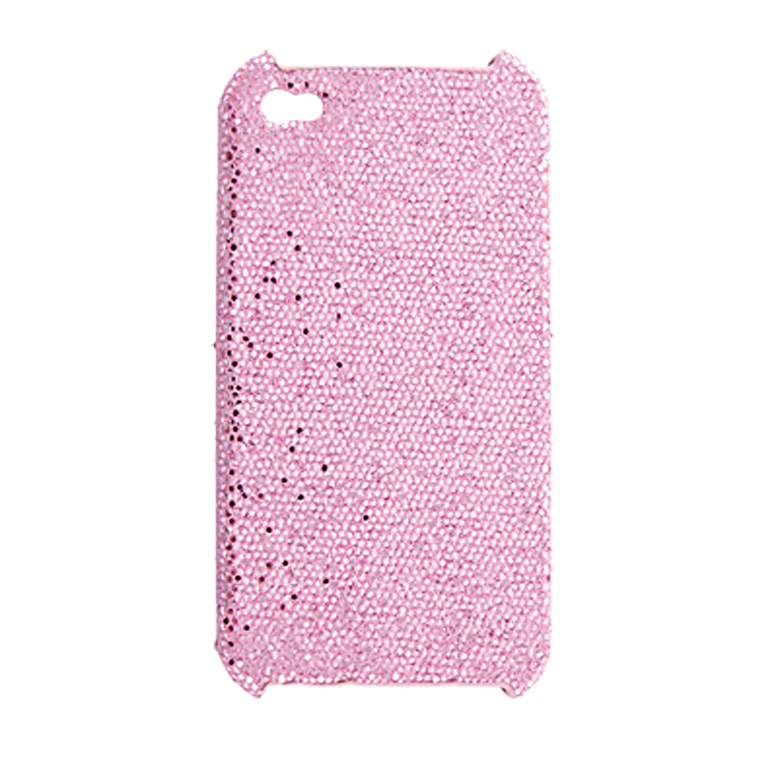 Pink Shiny Sequins Hard Plastic Back Case for iPhone 4 4G