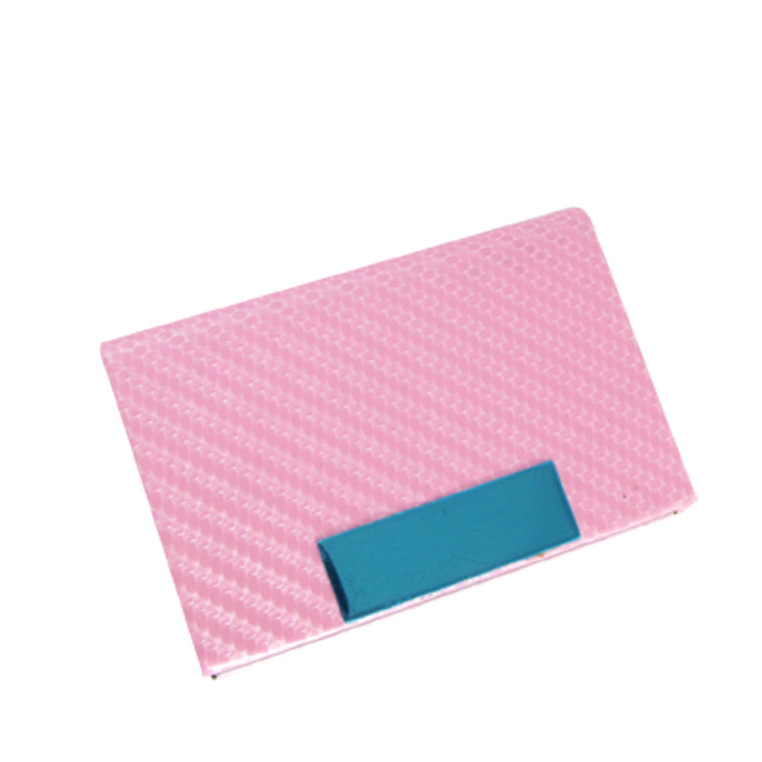 Rectangle Style Woven Printed Pink Name Credit Card Holder