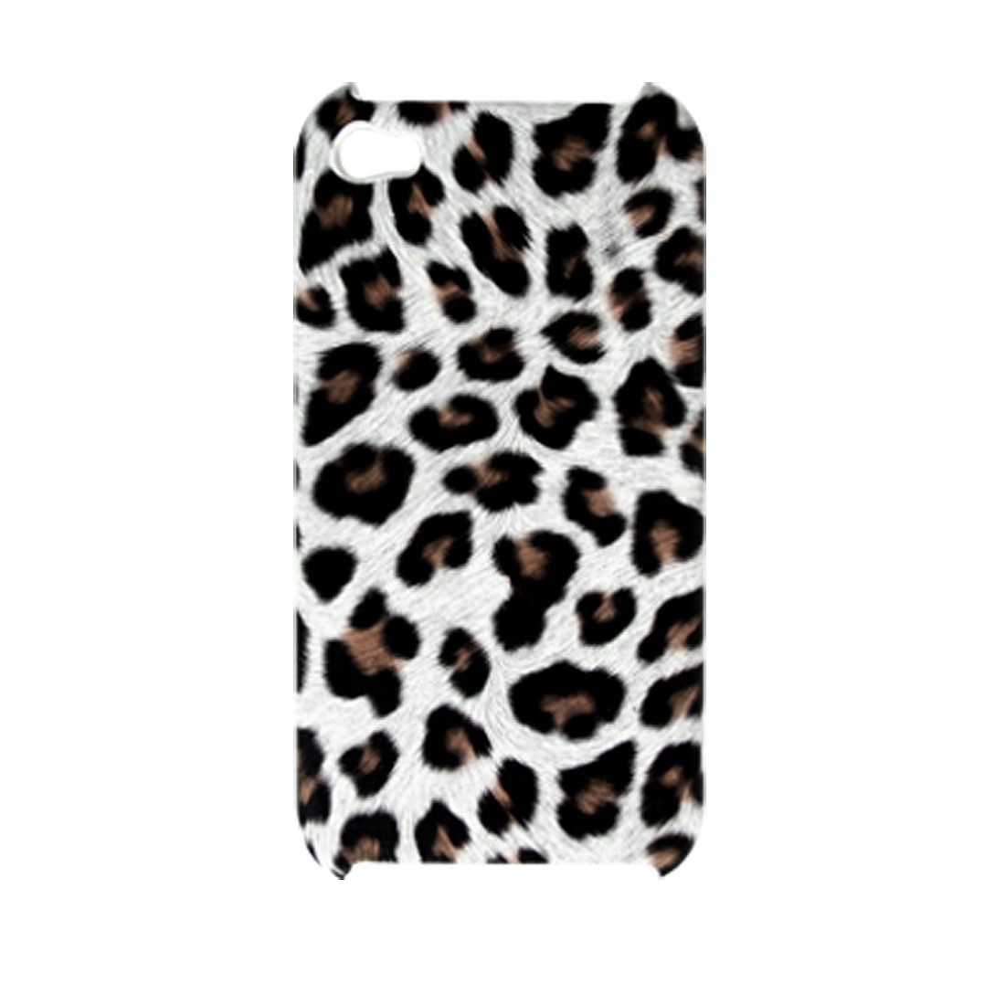 Leopard Pattern Plastic Protective Back Shield Case for iPhone 4 4G