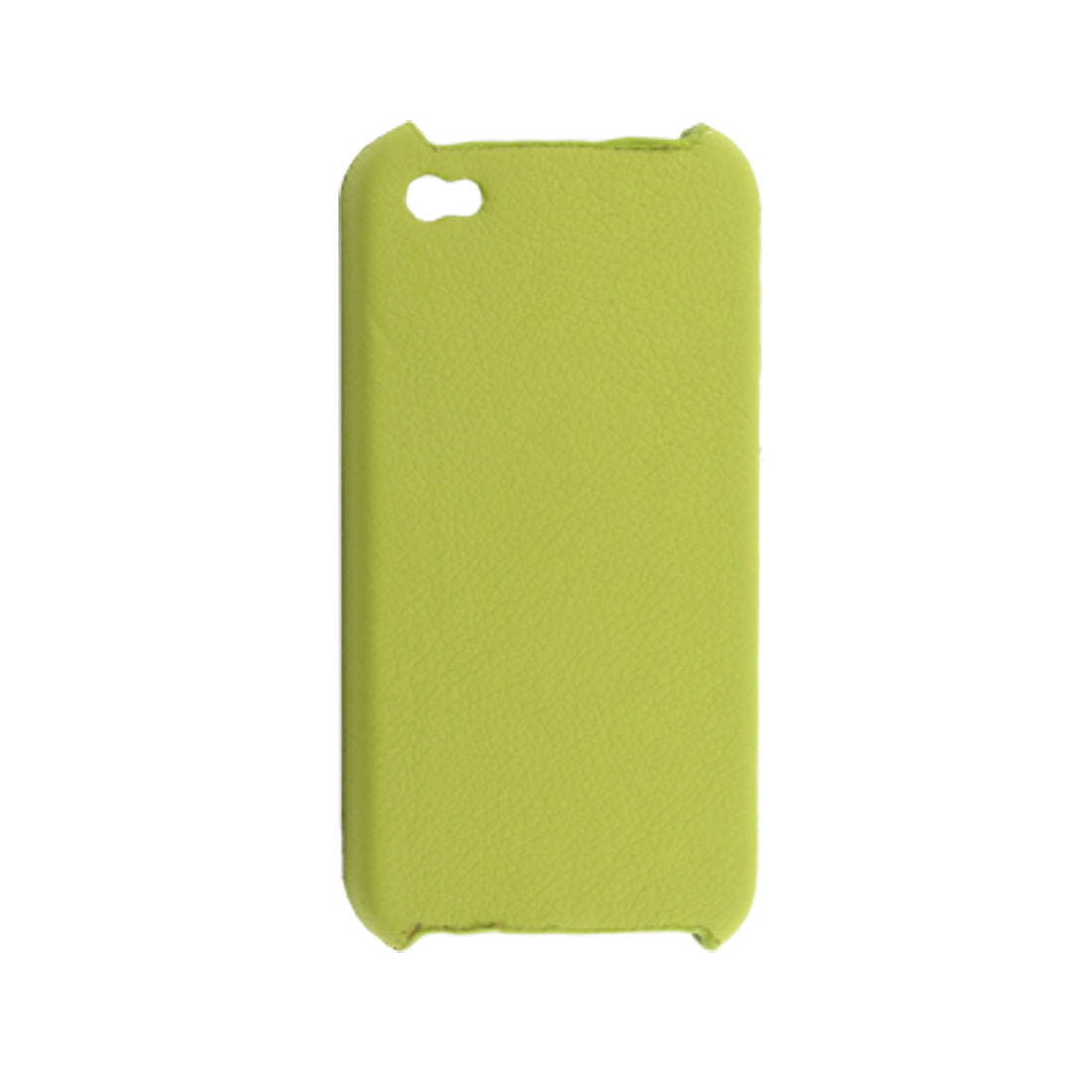 Protective Faux Leather Coated Plastic Back Case Green for iPhone 4 4G