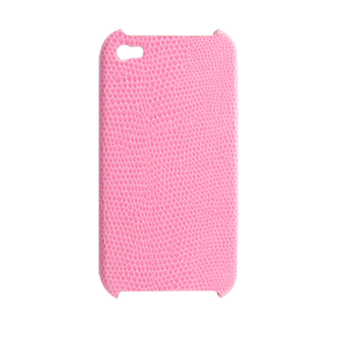 Pink Snake Pattern Faux Leather Coated Hard Back Case for iPhone 4 4G