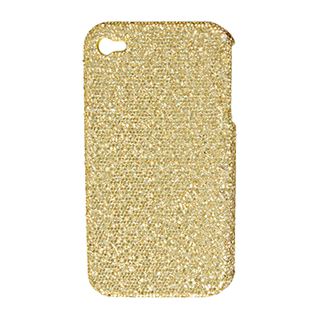 Glittery Paillette Yellow Plastic Cover for iPhone 4