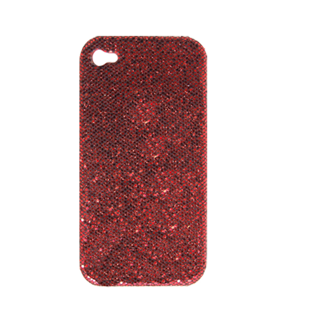 Red Glittery Paillette Hard Case Shell for iPhone 4 4G