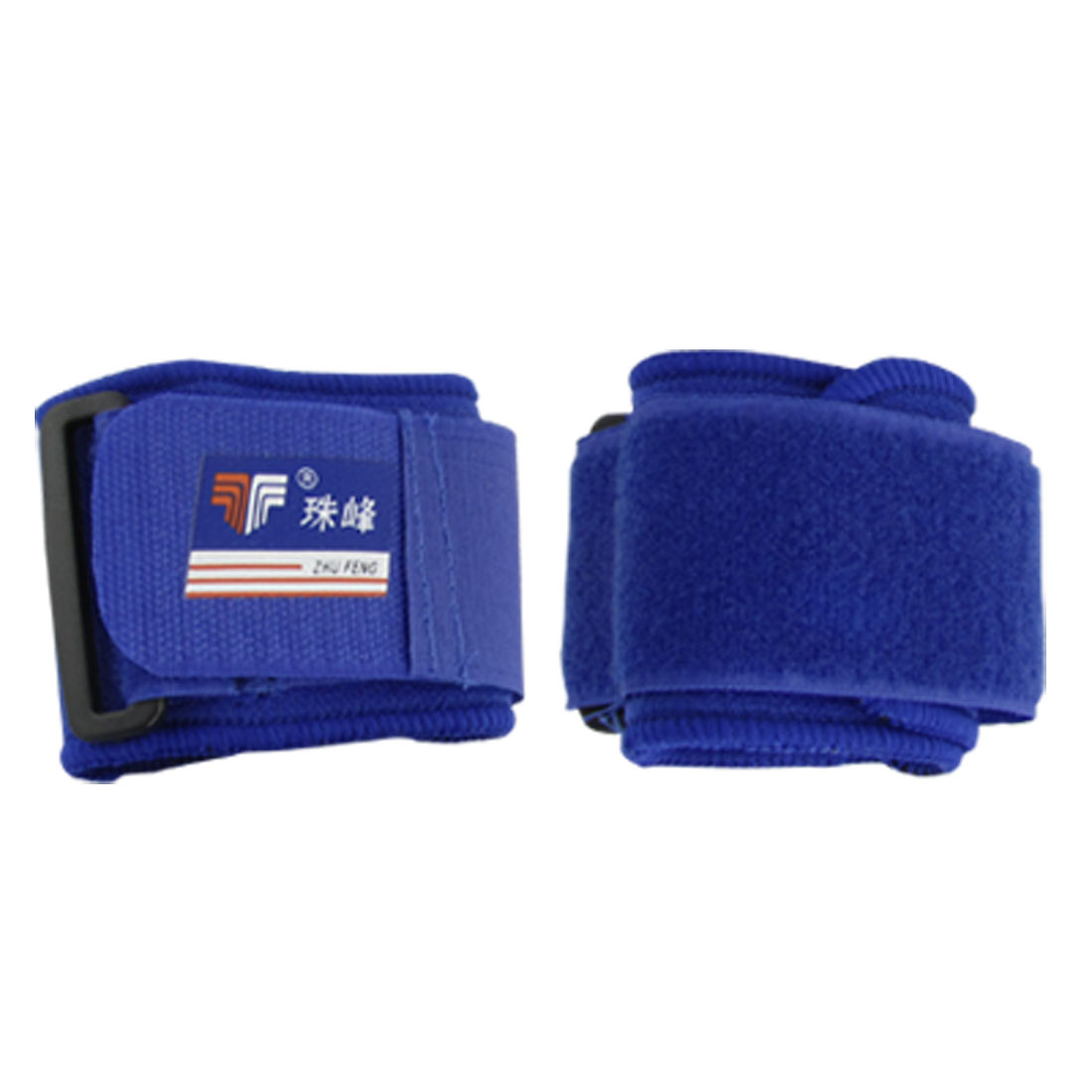 2 PCS Blue Hook and Loop Fastener Wrist Sports Brace Support Neoprene Protector
