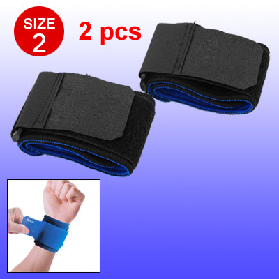Black Blue Neoprene Hook and Loop Fastener Closure Wrist Band Protector