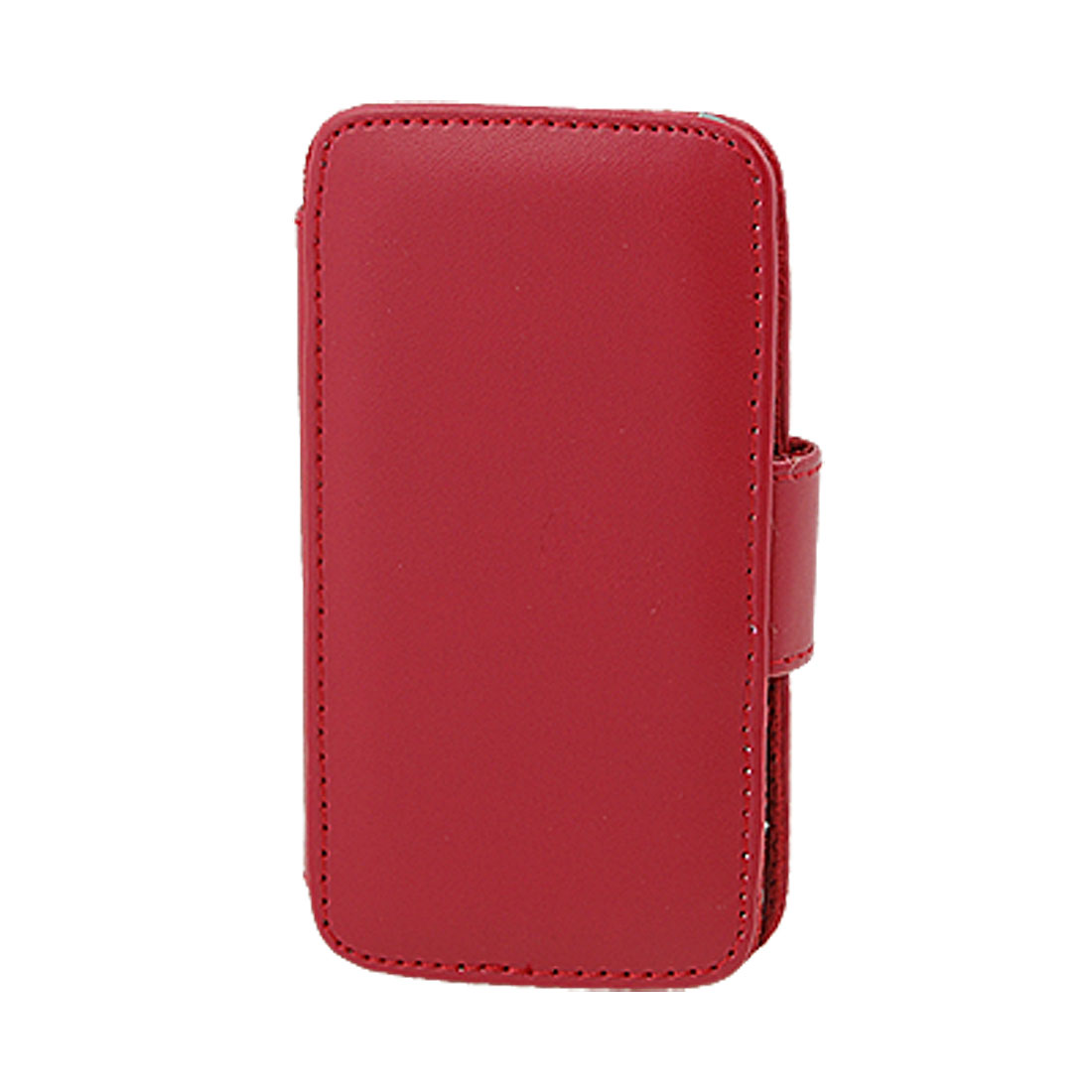 Red Faux Leather Plastic Holder Inside Case for iPhone 4 4G