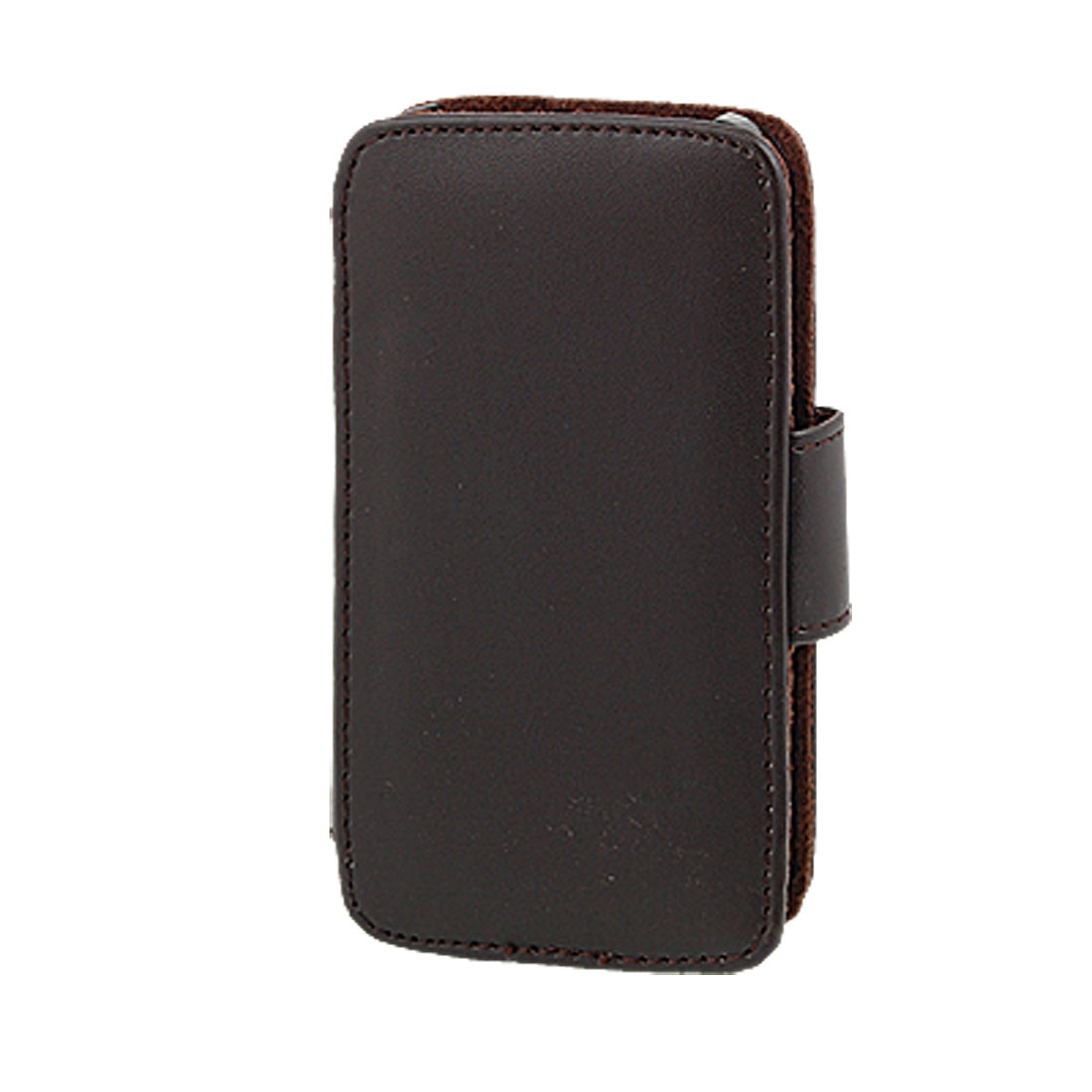 Brown Faux Leather Magnetic Cover for Apple iPhone 4