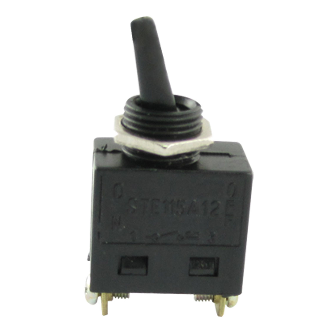 AC 125V 15A 250V 8A On/Off SPST Toggle Switch Black w Screw Terminals