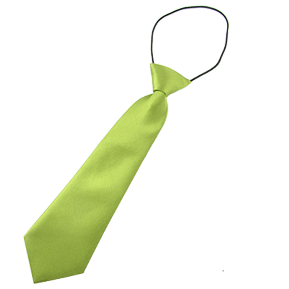 Children Smooth Green Neck Tie Satin Finish Polyester Necktie