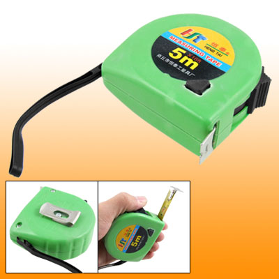 Green 5M 16ft Retractable Measuring Tool Tape Measure W Fixed Lock