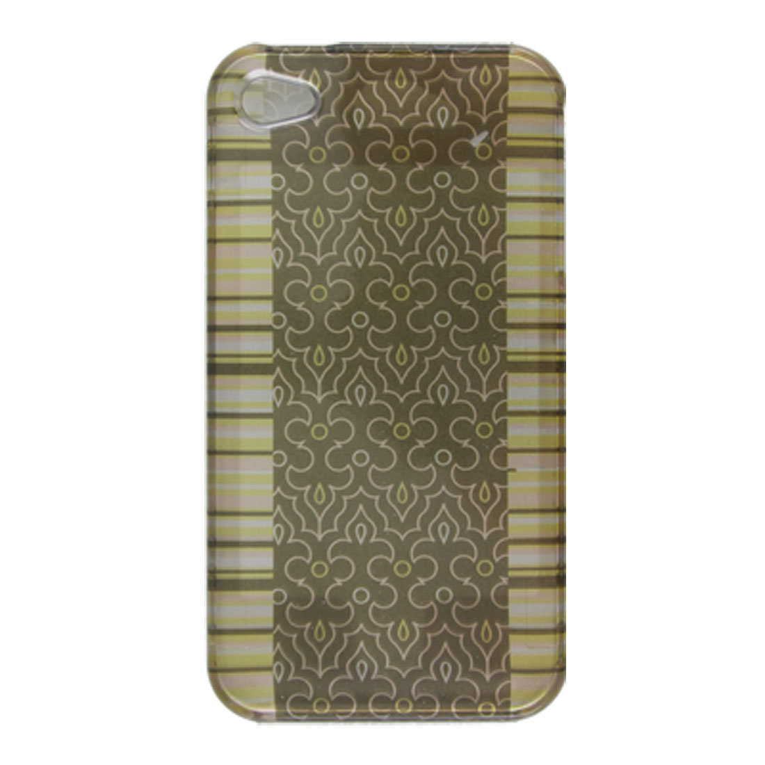 For Apple iPhone 4 4G Emboss Pattern Smooth Plastic Hard Housing Case