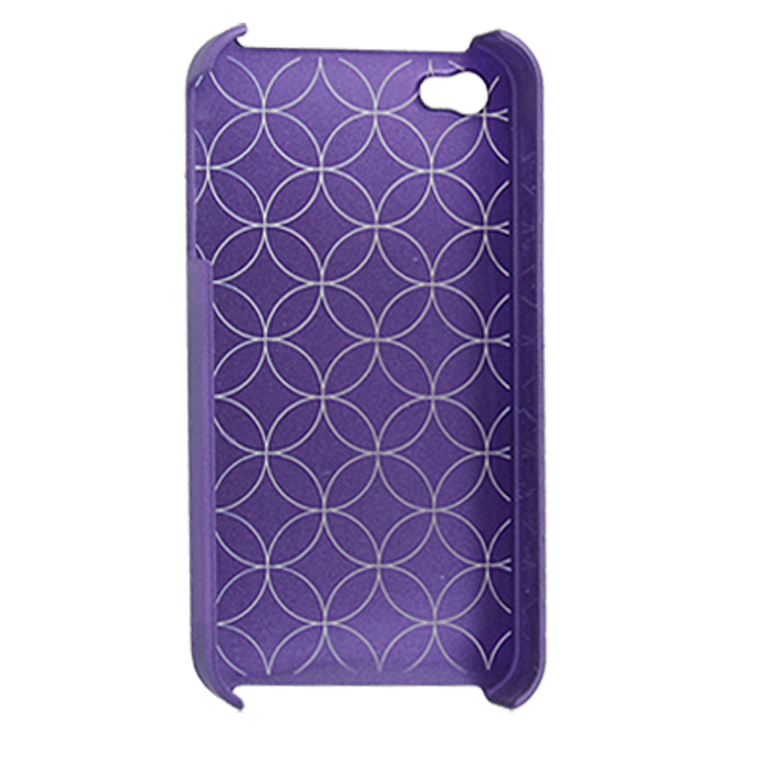 Purple Geometric Pattern Hard Plastic Case for iPhone 4 4G
