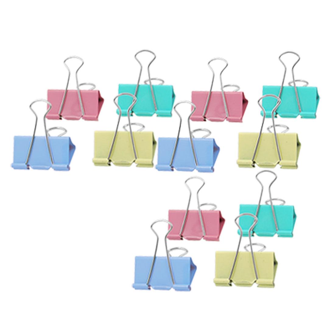 12pcs Pack Four Colors Office Paper Metal Binder Clips 50mm