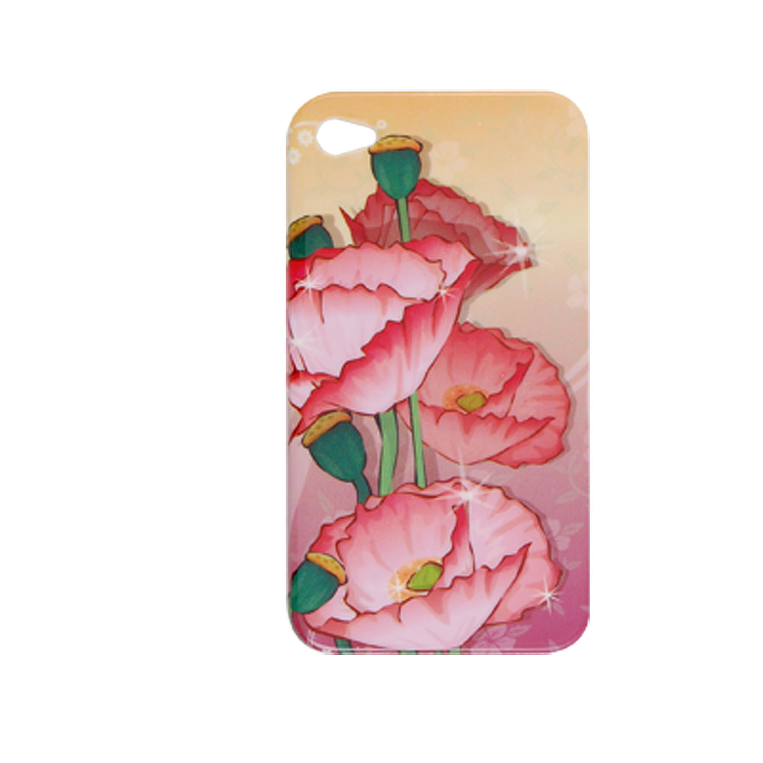 Lotus Buds Flower Print Hard Plastic Cover for iPhone 4
